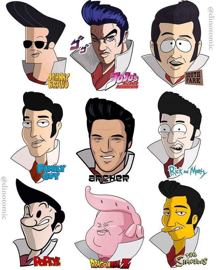 Artista mostra a aparência de vários personagens em diferentes universos de desenhos animados 32