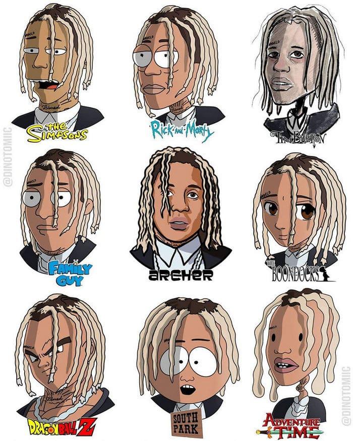 Artista mostra a aparência de vários personagens em diferentes universos de desenhos animados 33