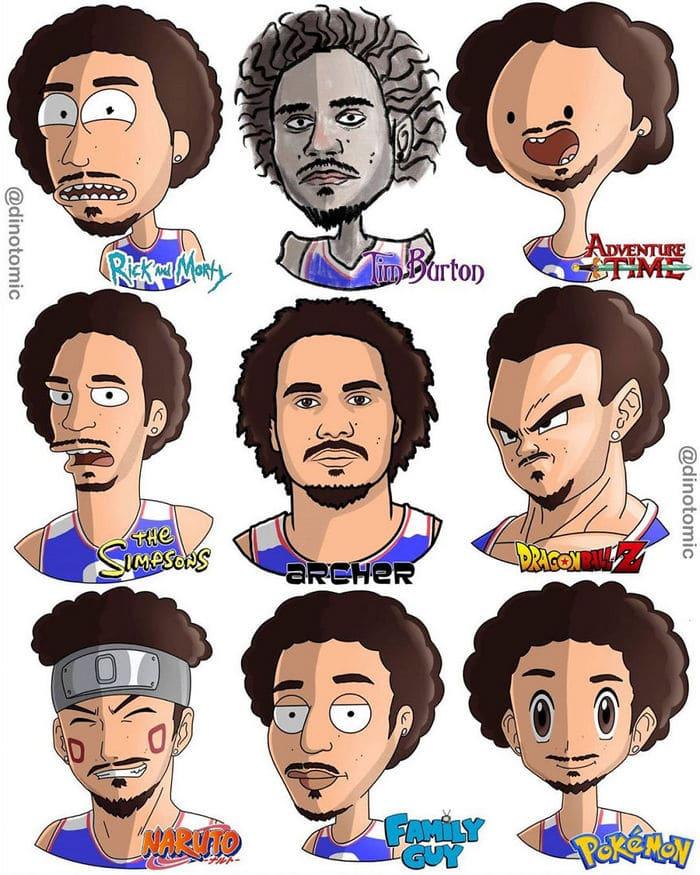 Artista mostra a aparência de vários personagens em diferentes universos de desenhos animados 34
