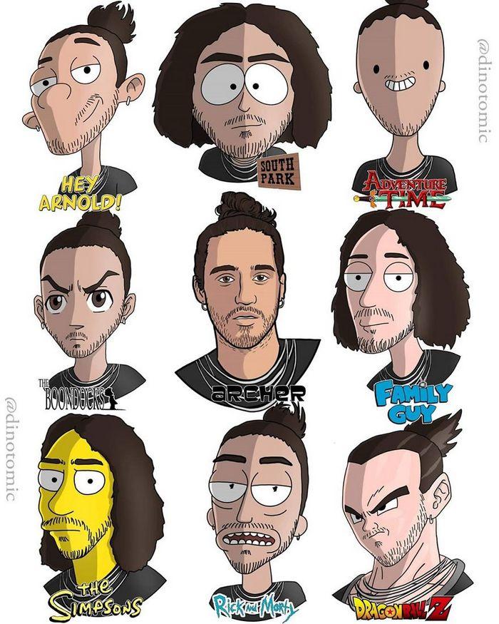 Artista mostra a aparência de vários personagens em diferentes universos de desenhos animados 38