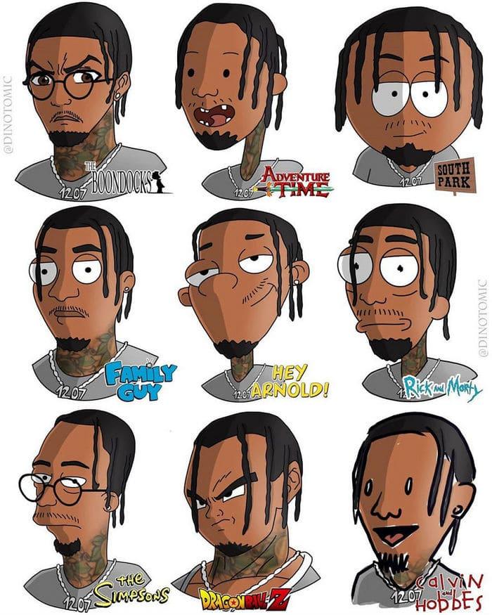 Artista mostra a aparência de vários personagens em diferentes universos de desenhos animados 39