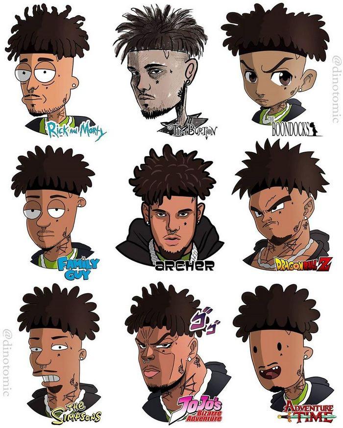 Artista mostra a aparência de vários personagens em diferentes universos de desenhos animados 41