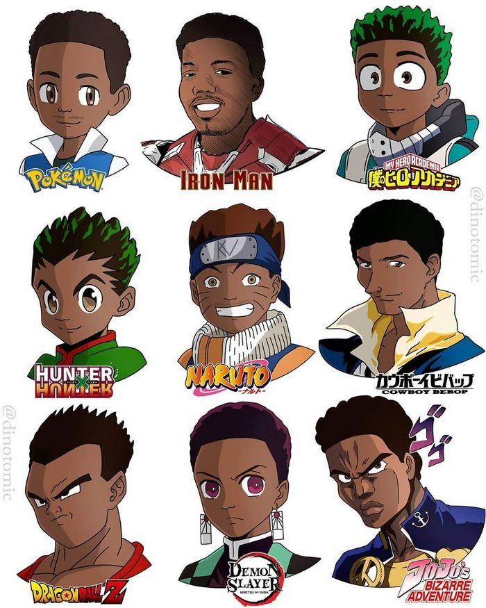 Artista mostra a aparência de vários personagens em diferentes universos de desenhos animados 42