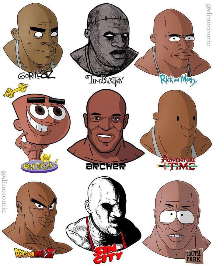 Artista mostra a aparência de vários personagens em diferentes universos de desenhos animados 44