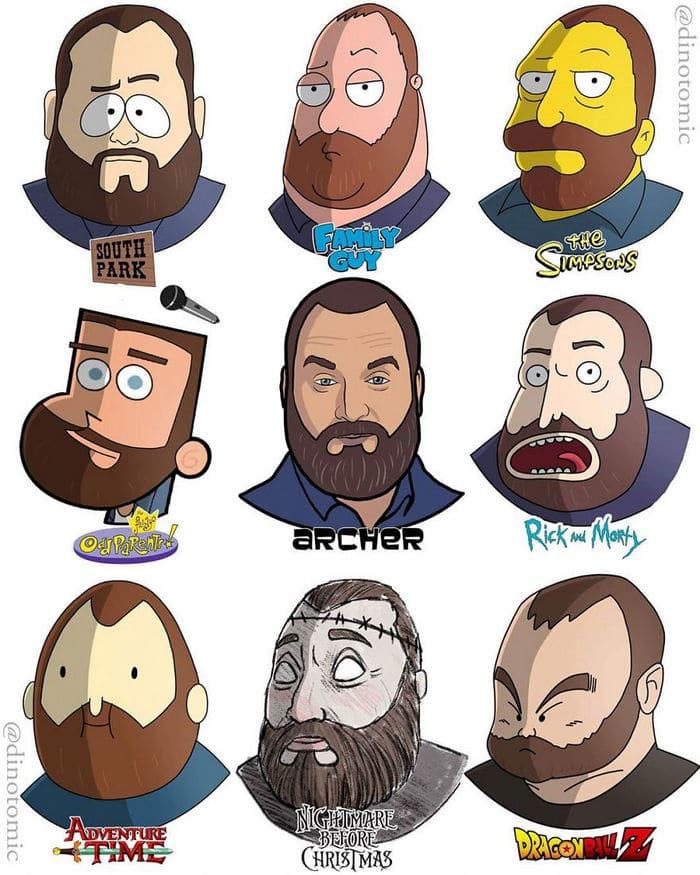 Artista mostra a aparência de vários personagens em diferentes universos de desenhos animados 46
