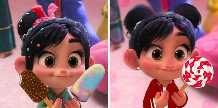 Artista reimagina personagens da Disney como mulheres e homens modernos 3