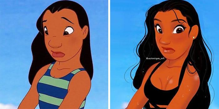 Artista reimagina personagens da Disney como mulheres e homens modernos 12