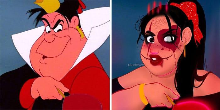 Artista reimagina personagens da Disney como mulheres e homens modernos 13