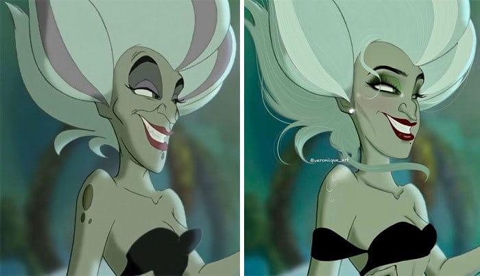 Artista reimagina personagens da Disney como mulheres e homens modernos 14