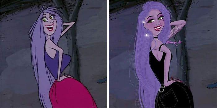 Artista reimagina personagens da Disney como mulheres e homens modernos 19