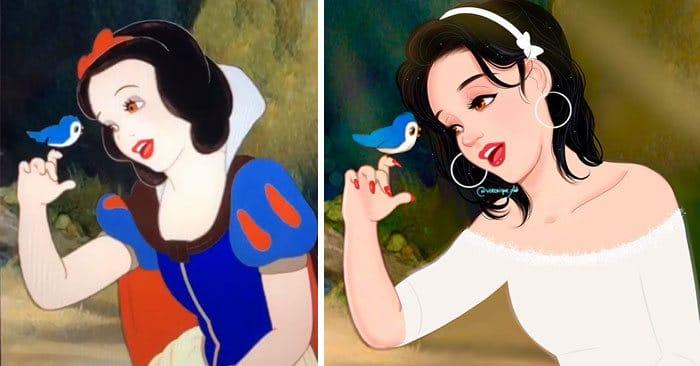 Artista reimagina personagens da Disney como mulheres e homens modernos 22