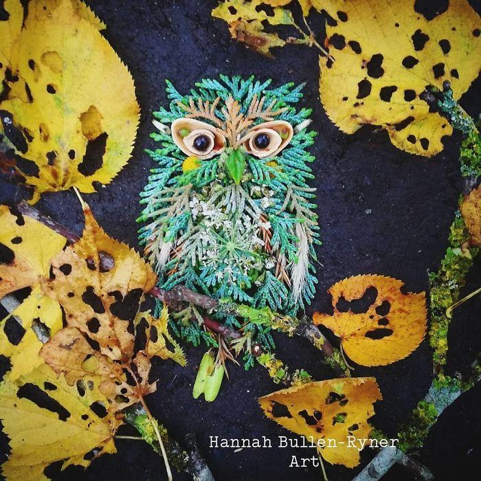Artista usa coisas que encontra nas florestas para criar lindas mandalas de pássaros 30