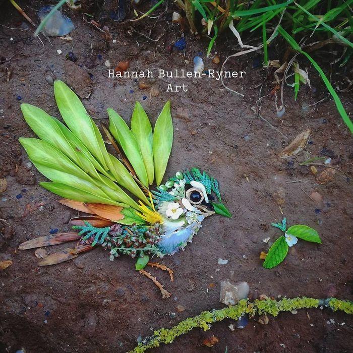 Artista usa coisas que encontra nas florestas para criar lindas mandalas de pássaros 31