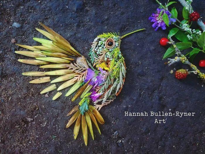 Artista usa coisas que encontra nas florestas para criar lindas mandalas de pássaros 33