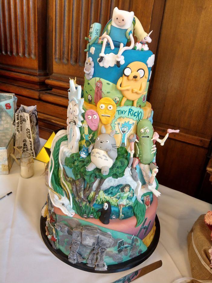 40 bolos de casamento criativos que parecem tão bons que roubaram o show 4