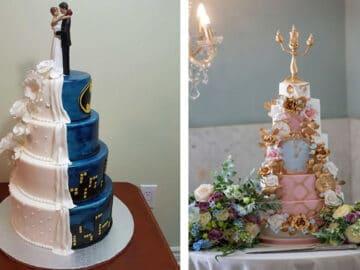 40 bolos de casamento criativos que parecem tão bons que roubaram o show 1