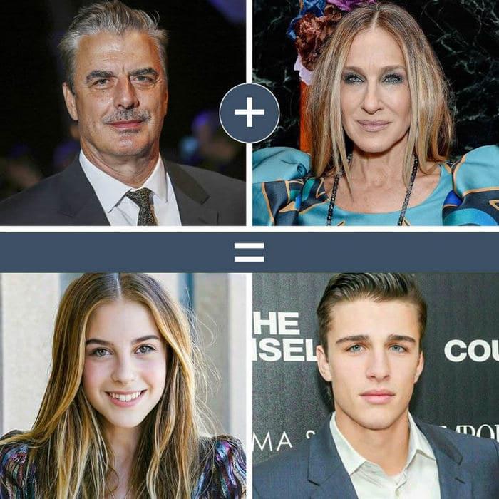 Como seriam os filhos de casais famosos de filmes e séries populares 5