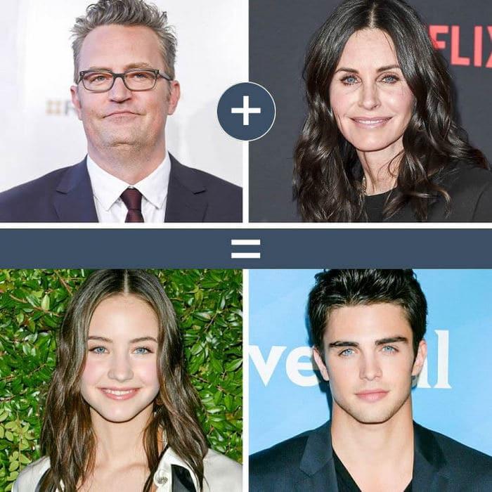 Como seriam os filhos de casais famosos de filmes e séries populares 6