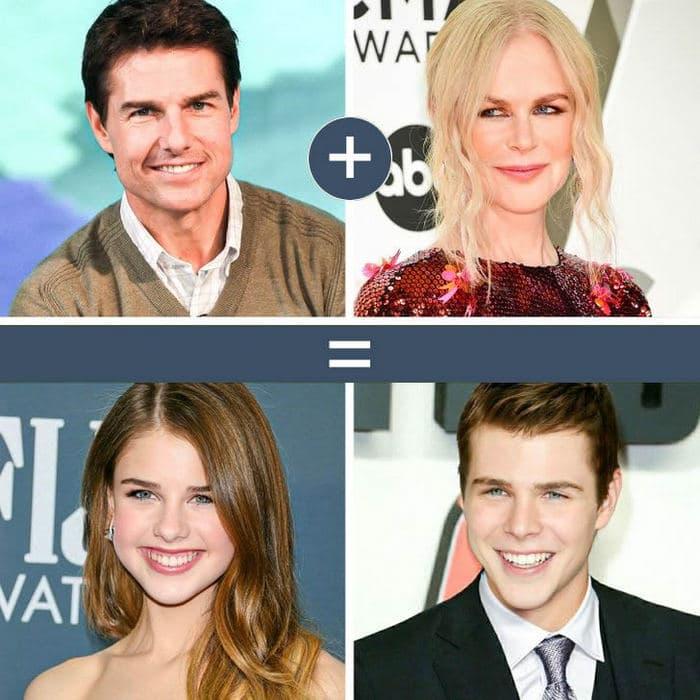 Como seriam os filhos de casais famosos de filmes e séries populares 10