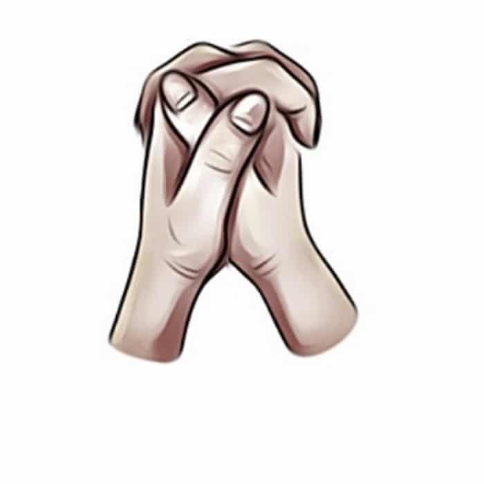 Como você cruza as mãos? 5