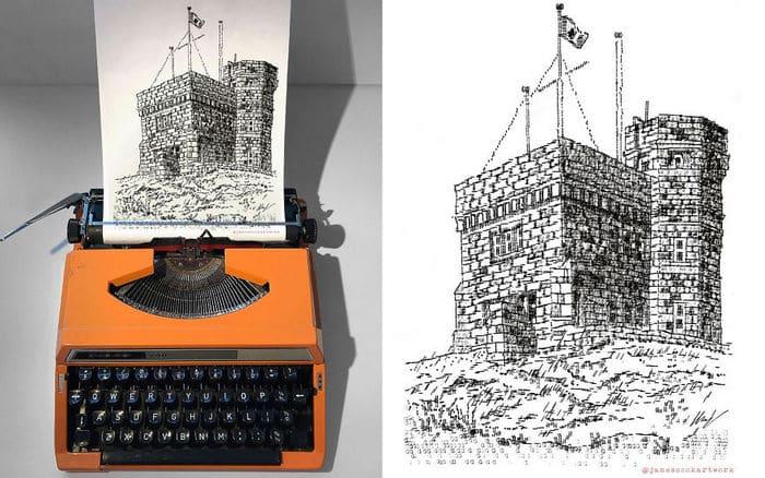 Este artista desenha com uma máquina de escrever 5