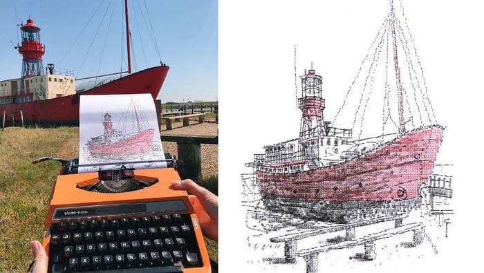 Este artista desenha com uma máquina de escrever 6