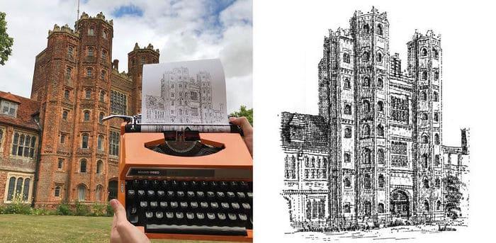Este artista desenha com uma máquina de escrever 9