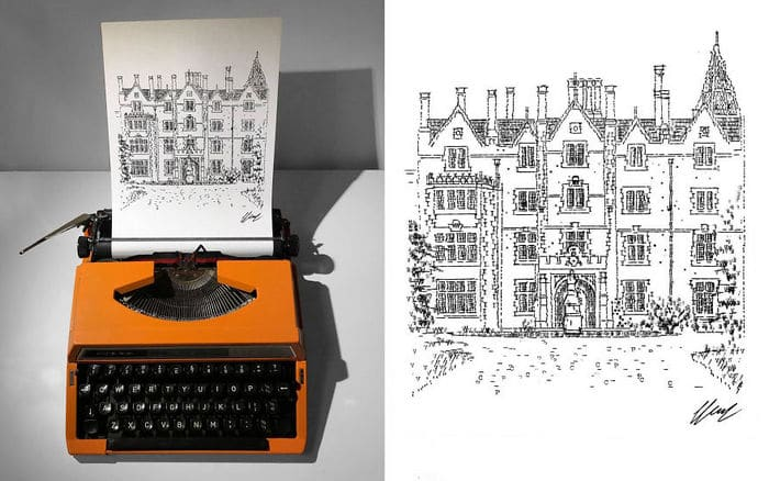 Este artista desenha com uma máquina de escrever 10