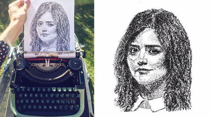 Este artista desenha com uma máquina de escrever 17