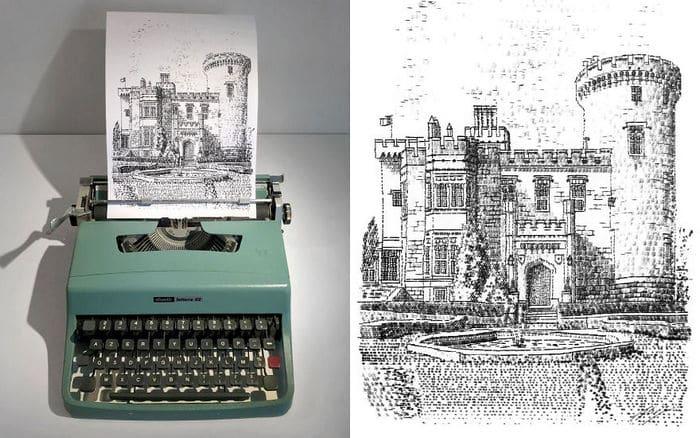 Este artista desenha com uma máquina de escrever 18
