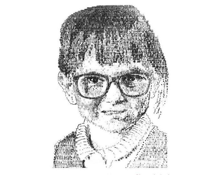 Este artista desenha com uma máquina de escrever 20