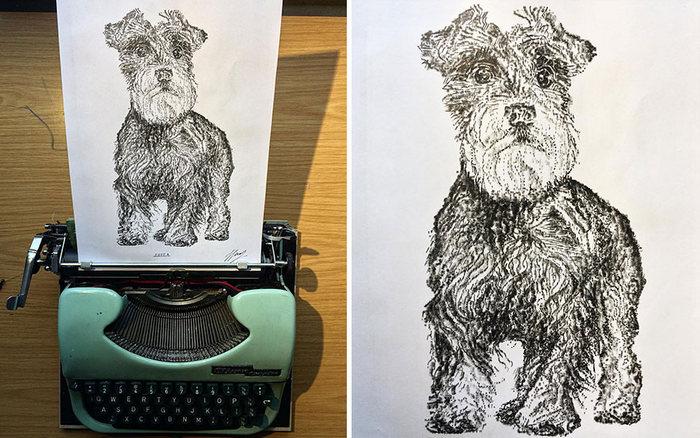 Este artista desenha com uma máquina de escrever 22