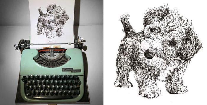 Este artista desenha com uma máquina de escrever 24