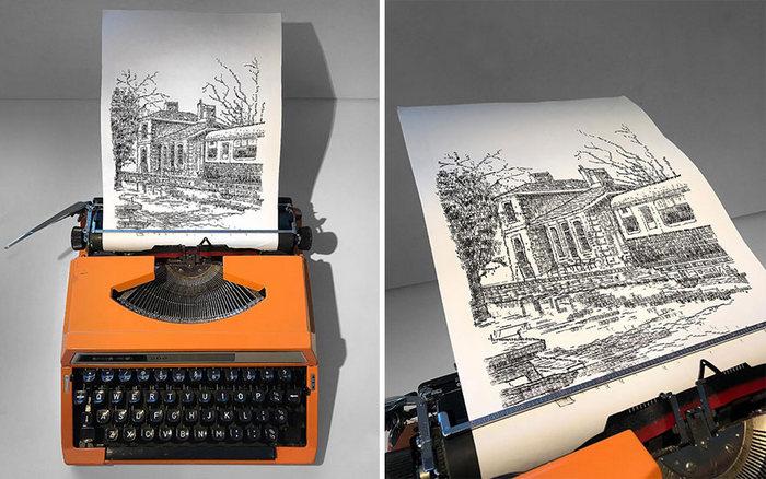 Este artista desenha com uma máquina de escrever 28