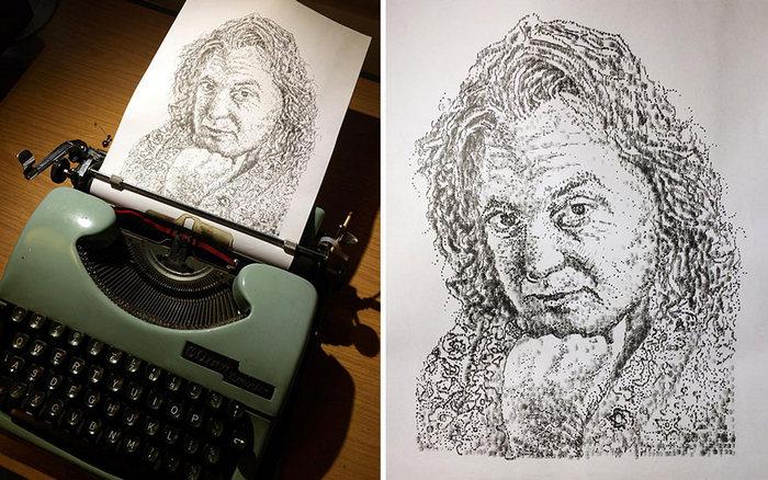 Este artista desenha com uma máquina de escrever 31