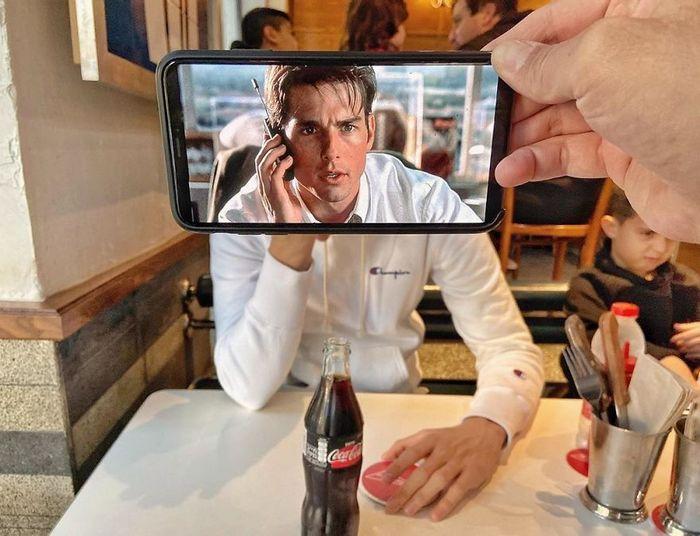 Fotos divertidas tiradas com dois smartphone 4