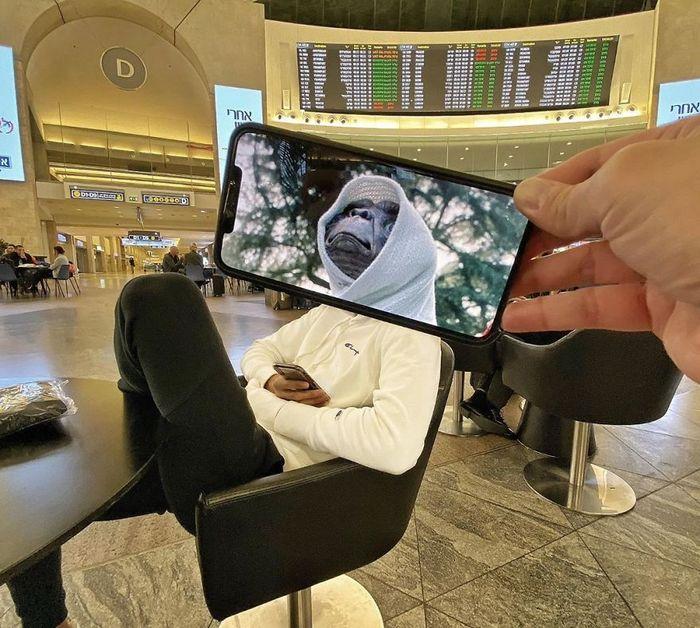 Fotos divertidas tiradas com dois smartphone 5