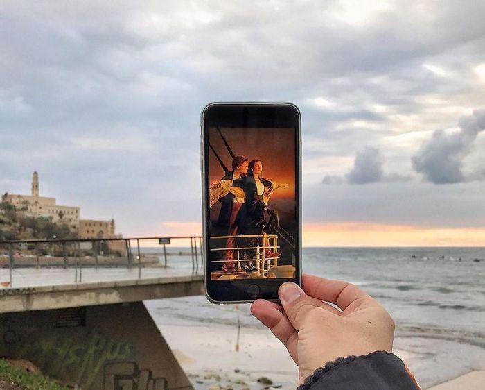 Fotos divertidas tiradas com dois smartphone 7