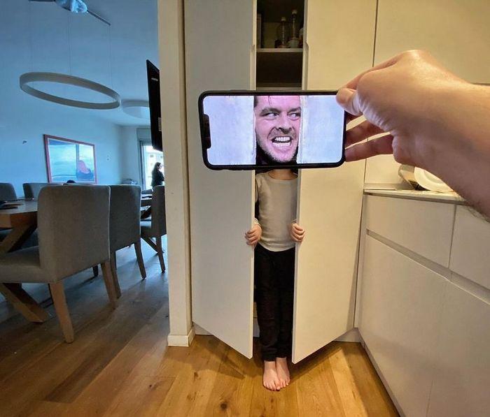 Fotos divertidas tiradas com dois smartphone 9