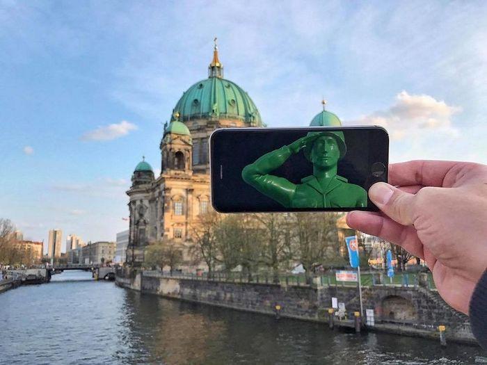 Fotos divertidas tiradas com dois smartphone 18