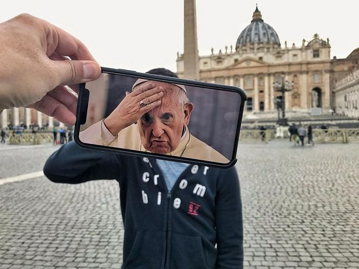 Fotos divertidas tiradas com dois smartphone 19