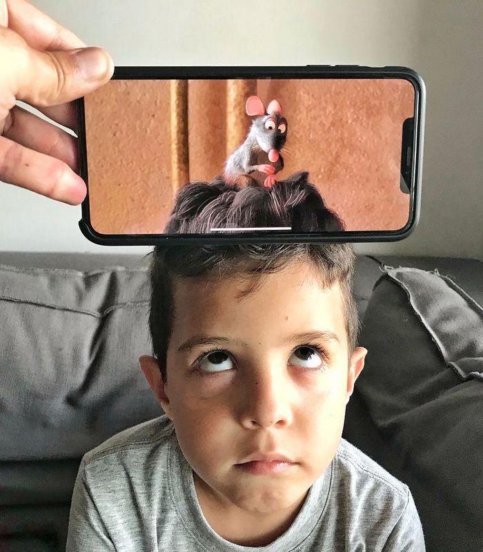 Fotos divertidas tiradas com dois smartphone 42