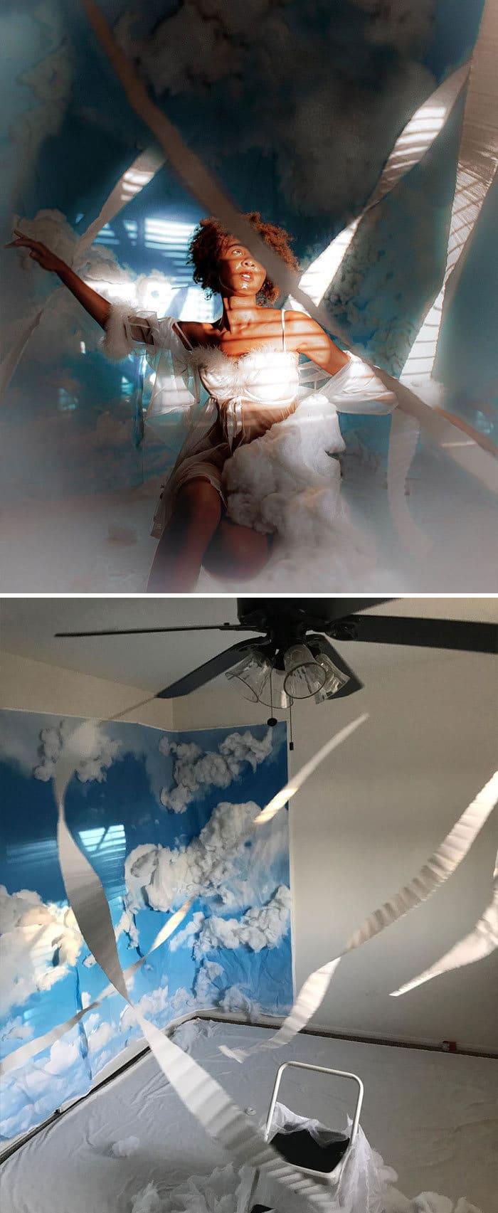 Modelo tira autorretratos dignos de capa de revista em casa totalmente sozinha 5
