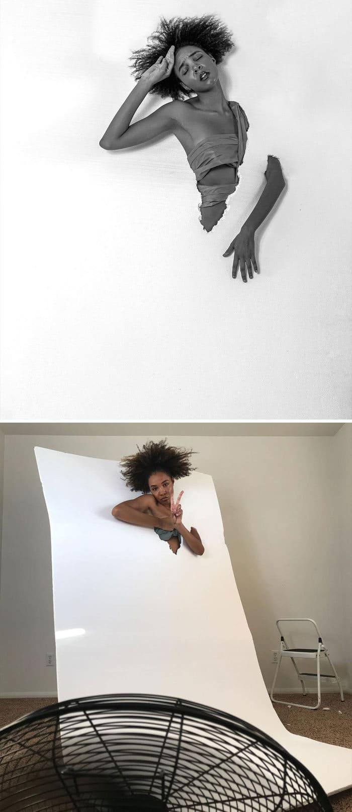 Modelo tira autorretratos dignos de capa de revista em casa totalmente sozinha 10