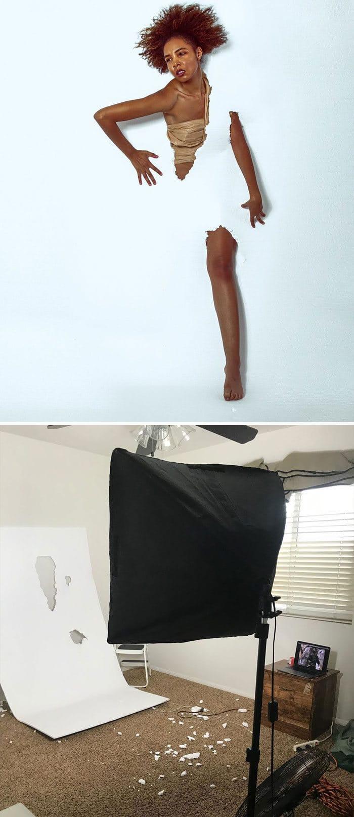 Modelo tira autorretratos dignos de capa de revista em casa totalmente sozinha 11