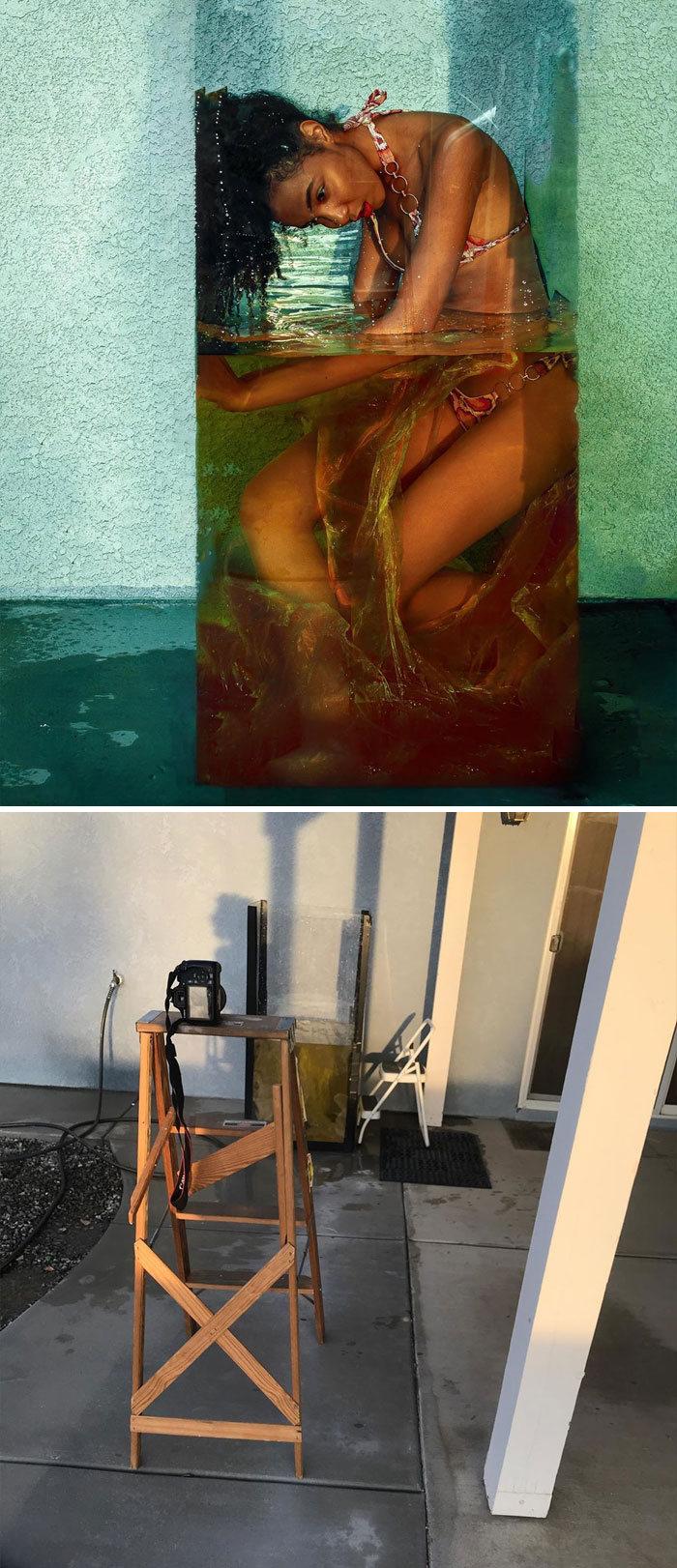 Modelo tira autorretratos dignos de capa de revista em casa totalmente sozinha 13