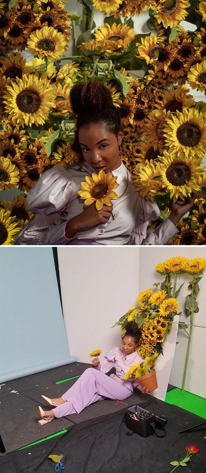 Modelo tira autorretratos dignos de capa de revista em casa totalmente sozinha 17