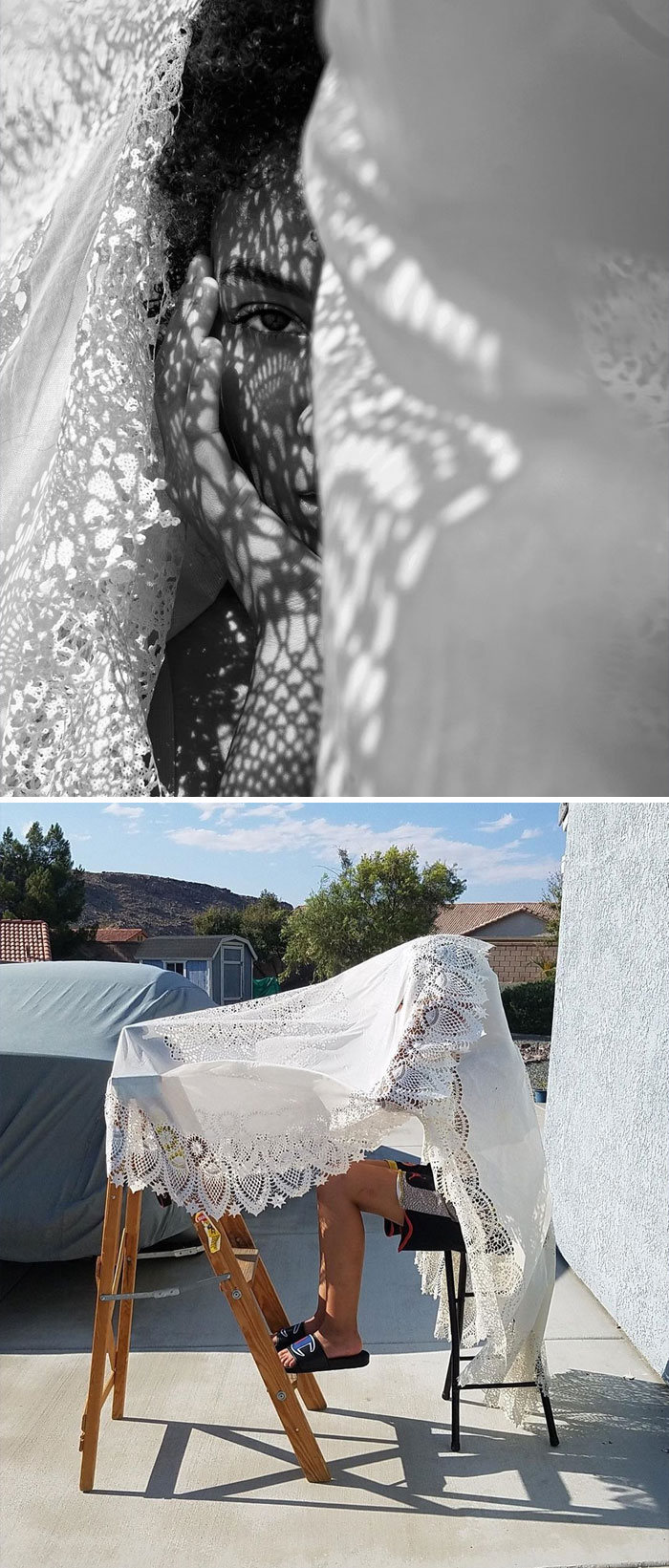 Modelo tira autorretratos dignos de capa de revista em casa totalmente sozinha 24