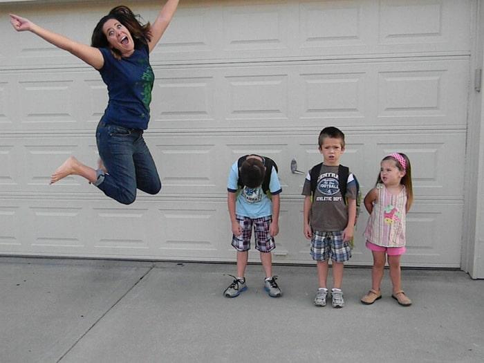 Pais postam aquele momento horrível em que seus filhos voltam para a escola 11