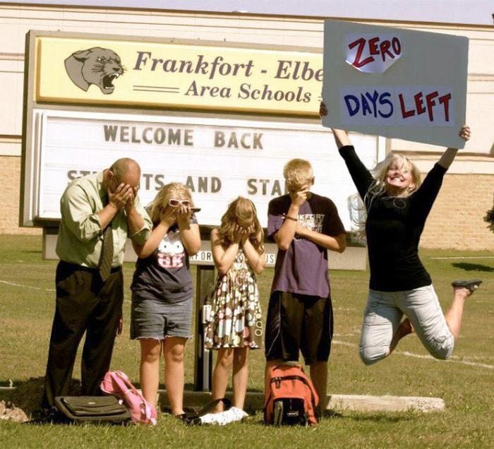 Pais postam aquele momento horrível em que seus filhos voltam para a escola 13